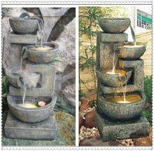 V evropském stylu nádvoří zahradní pryskyřice ozdoby Knick drobnostmi krytý vodní fontány terén samec art přistání (Čína (pevninská část))