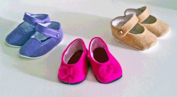 Felt shoes sewing pdf by MorrisseyDolls for American Girl, Friends 4 Life, Madame Alexander