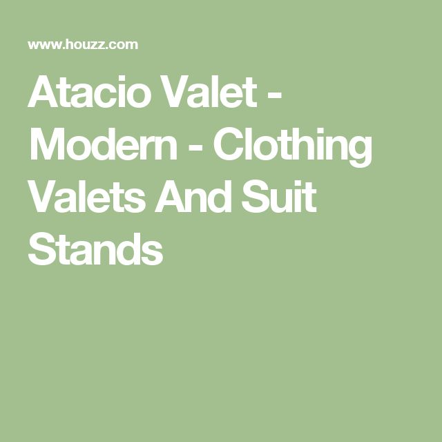 Atacio Valet - Modern - Clothing Valets And Suit Stands