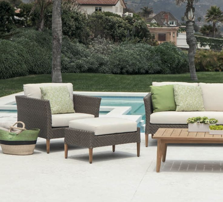 Luxury outdoor furniture by Brown Jordan This woven set