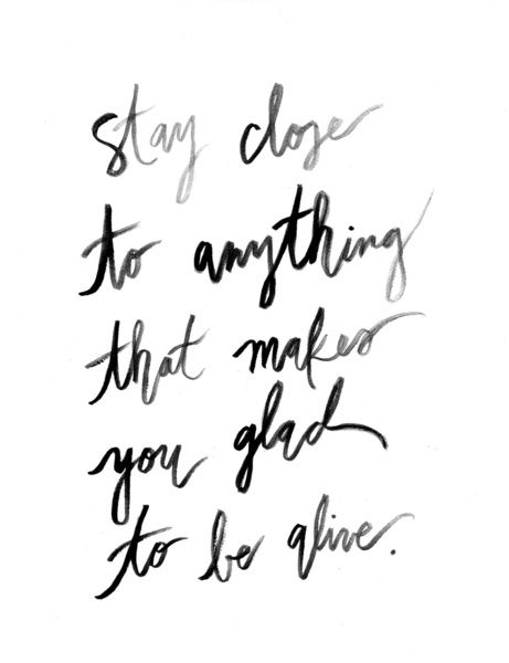 Stay Close to Feeling Alive - Print Art Print by Jenna Kutcher | Society6