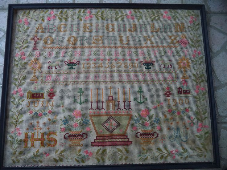 An Early 20th Century FRENCH Sampler Dated 1900