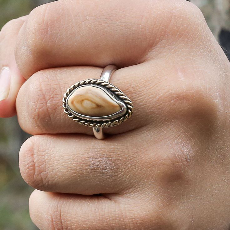 This Elk Ivory Tooth Trophy Antler Ring is featured in Sterling Silver and 14K yellow gold but it is also available in all sterling silver, 14K yellow gold, 14K white gold, or 14K rose goldSteps to order: <ol><li>Add to Cart</li><li>Enter <strong>ELK100</strong> in Coupon Code if providing your own ivory</li><li>Complete Order Process</li><li>Ship your ivory to: PCJ 430 Main Street, Box 3532, Park City, UT 84060</li><li>You will receive your piece two weeks from when we receive your…