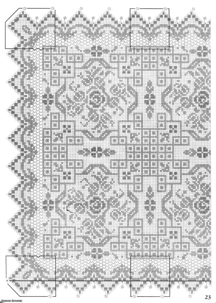 464 besten Crochet Filet Bilder auf Pinterest | Häkeln, Filethäkelei ...