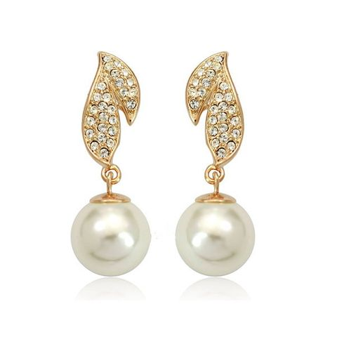 18K Gold Plated Brinco With Pearl Earrings | Stylish Beth