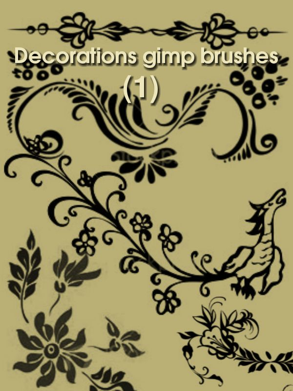 Decorations gimp brushes by ~ahmadhasan on deviantART