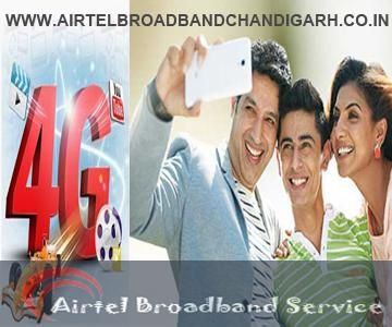Airtel Broadband #Chandigarh  32 MBPS unlimited broadband in Just Rs. 599*