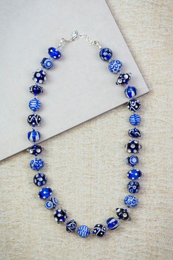 Lampwork Bead Necklaces von ADKTahoe auf Etsy