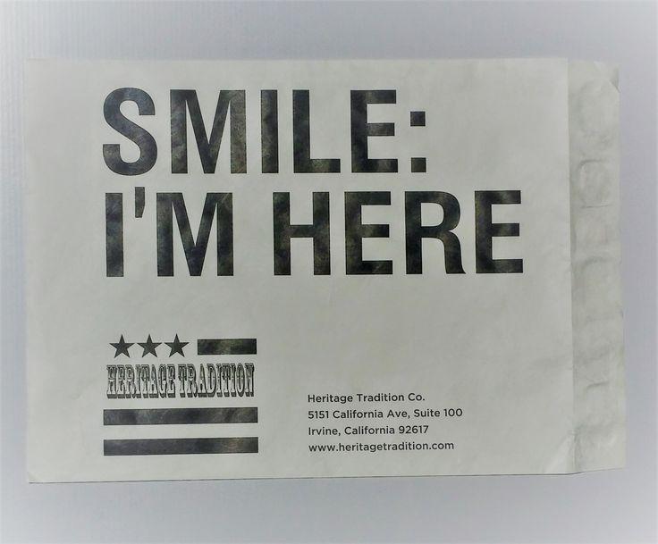 Custom printed apparel shipping envelopes by www.heritagetradition.com #envelopespot #branding