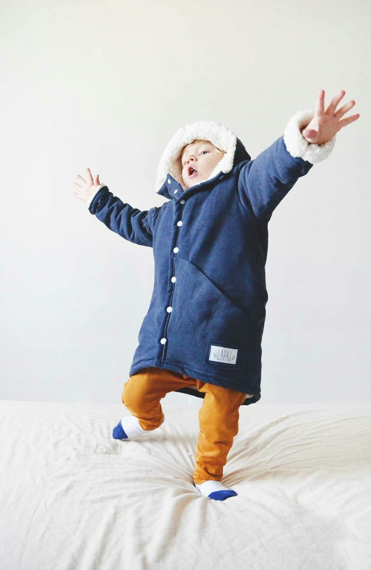 A coat for children oversize  Design by LAPAJ