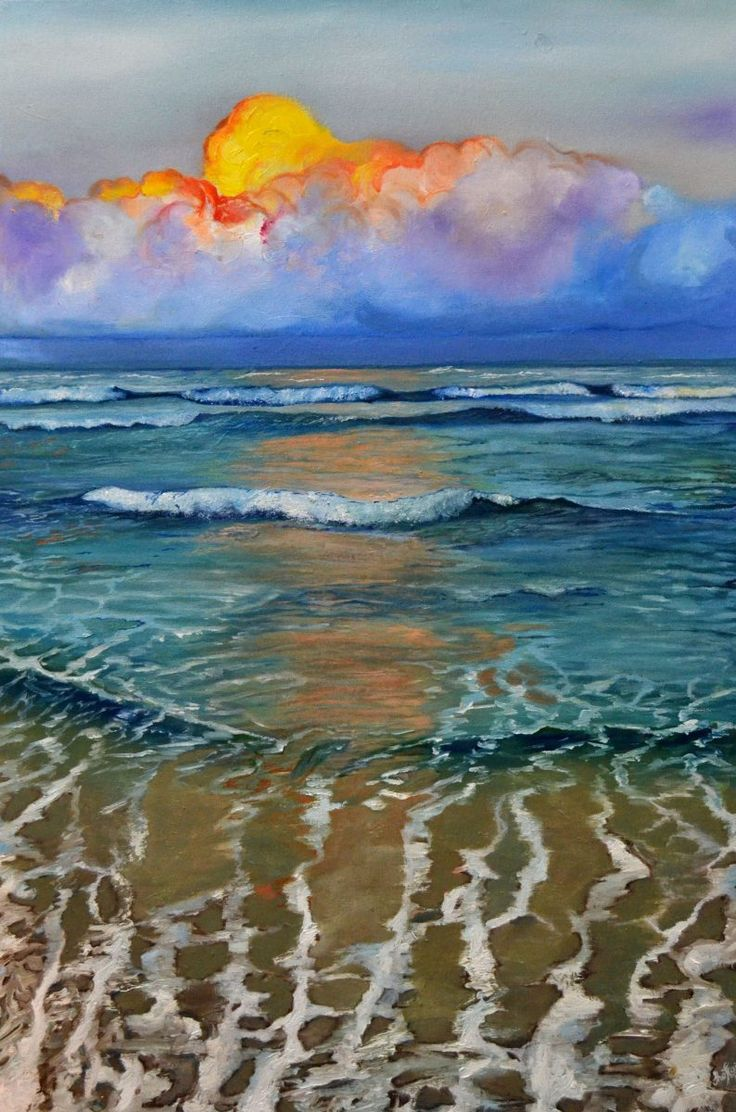 Title: Step into Serenity Size: Width (cm): 50, Height (cm): 75  You can purchase this artwork online. Order Now https://artsmiley.com/product/step-into-serenity/  Step into Serenity is Seascape Painting done by Shaftain Fahad. Artist has given amazing details in the waves to achieve Realism results. The hidden sunlight makes the Painting more alive and peaceful to look at. definitively This beauty will add a charm and peace at your home or work place.