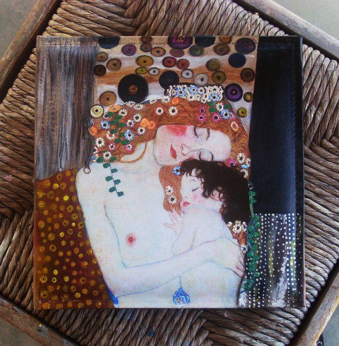 Photo Books, Photobook, Photo Album, Photo Album Book, Leather-like Photo Album, Case-bound Photo Album, MOTHER AND CHILD ( detail)