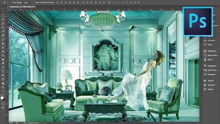 Je kamer onderwater zetten - Photoshop Tutorial - andere manier van color overlay, een kleur overzetten zonder verlies in contrast ed