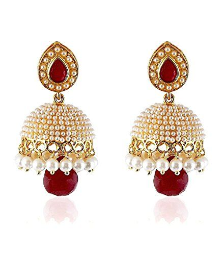 Indian Bollywood Beautiful Pearls Red Rubi Stylish Fancy Https
