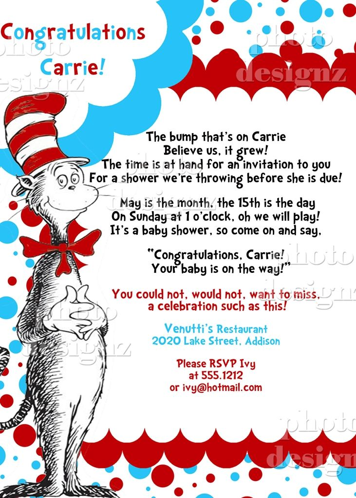 17 best Dr. Seuss Baby Shower images on Pinterest | Baby bird ...