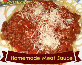 Delicious Homemade Meat Sauce recipe!