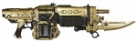 Gears of War 3 Exclusive 36 Inch Deluxe Prop Replica GOLD Retro Lancer