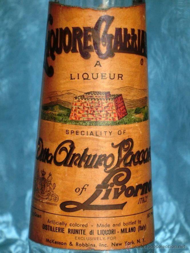 Compro Botellas De Vino Antiguas Rara Y Curiosa Botella De Licor Italiano Livorno Destileria