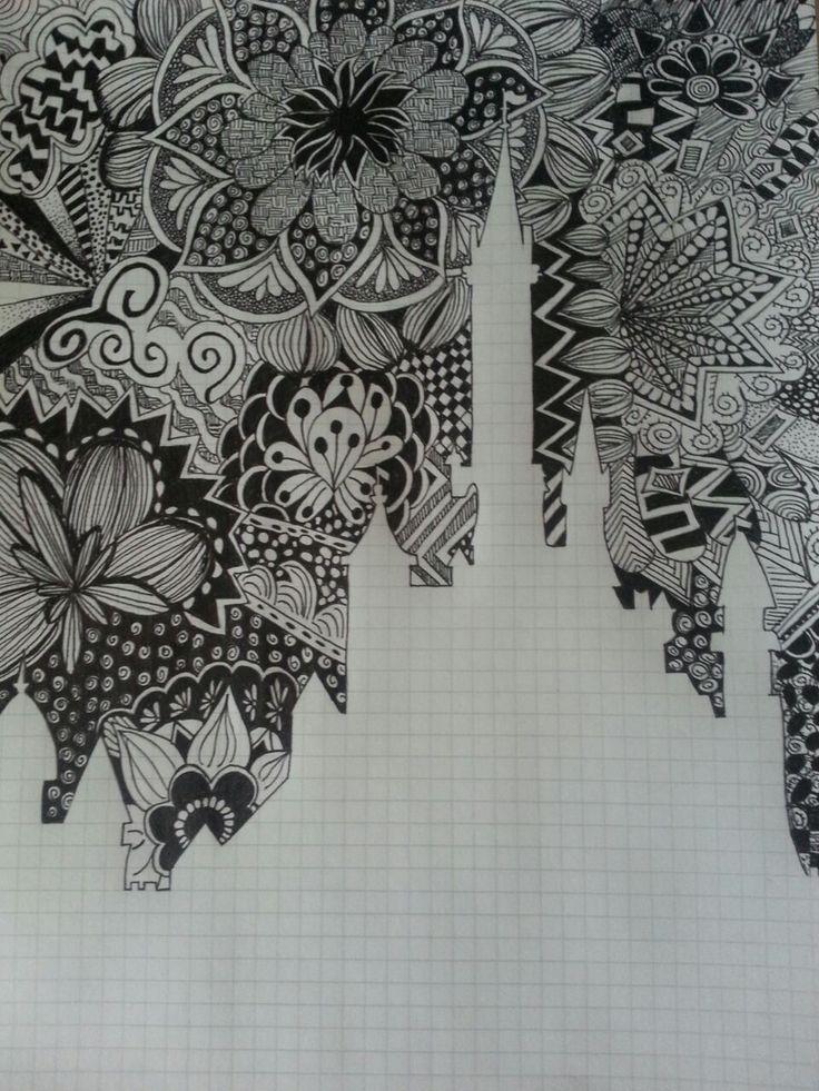 Pinlediğim resimden kopya çekerek bir mandala denemesi :))