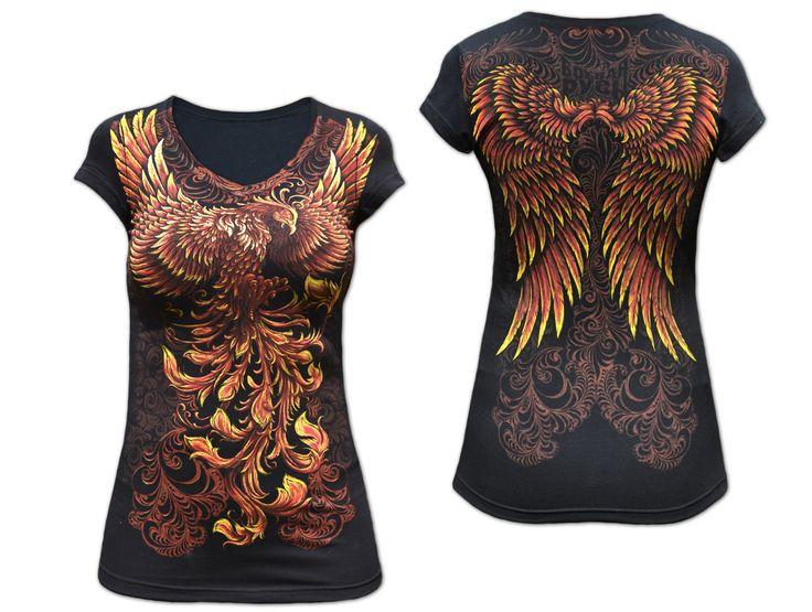 Женская футболка «ФЕНИКС» чёрная
