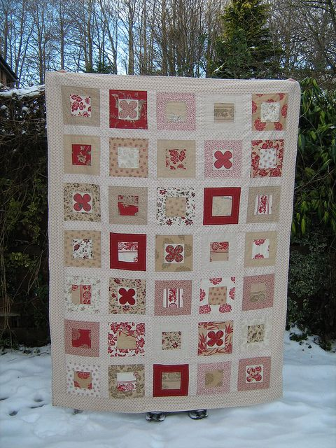 Another French General quilt pattern is simply a bloom found on the moda bakeshop