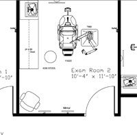 exam room layout cad drawing