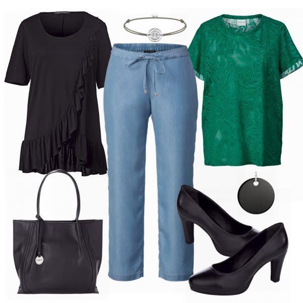 Große Größen Outfits: Ghappy 2 Look  bei FrauenOutfits.de #mode #damenmode #f…