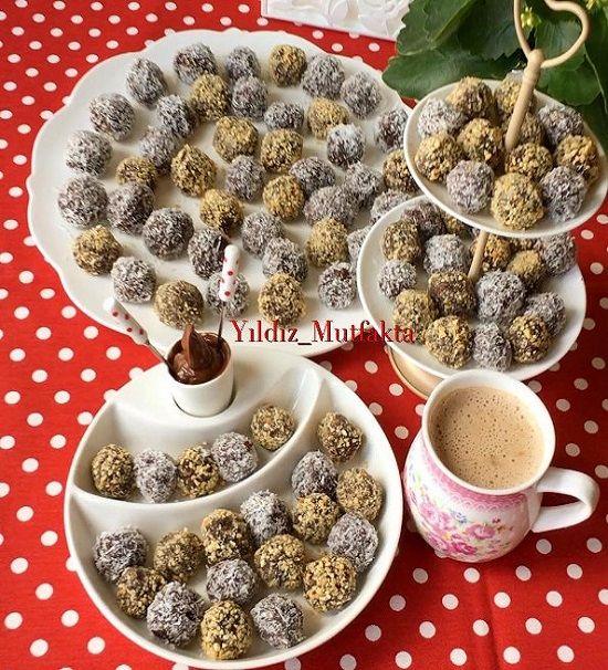 Kekli Çikolatalı Fındıklı Toplar
