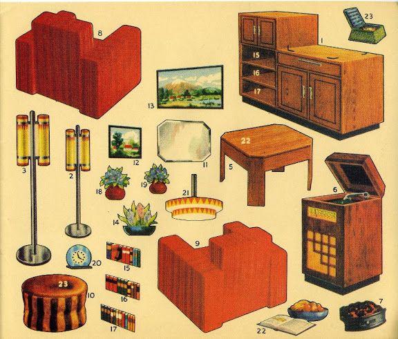 1204 besten paper doll house bilder auf pinterest puppenh user basteln und druckvorlagen. Black Bedroom Furniture Sets. Home Design Ideas