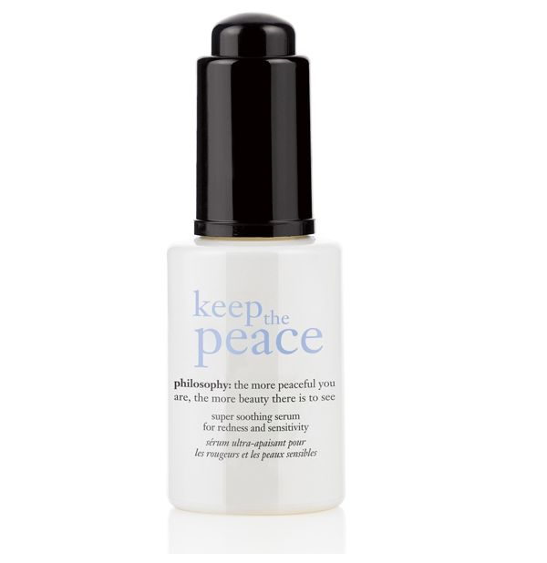 Philosophy Keep The Peace Super Soothing Serum for Redness and Sensitivity 27ml http://www.amazon.com/Philosophy-Soothing-Redness-Sensitivity-0-90-Ounce/dp/B004PH5V1C