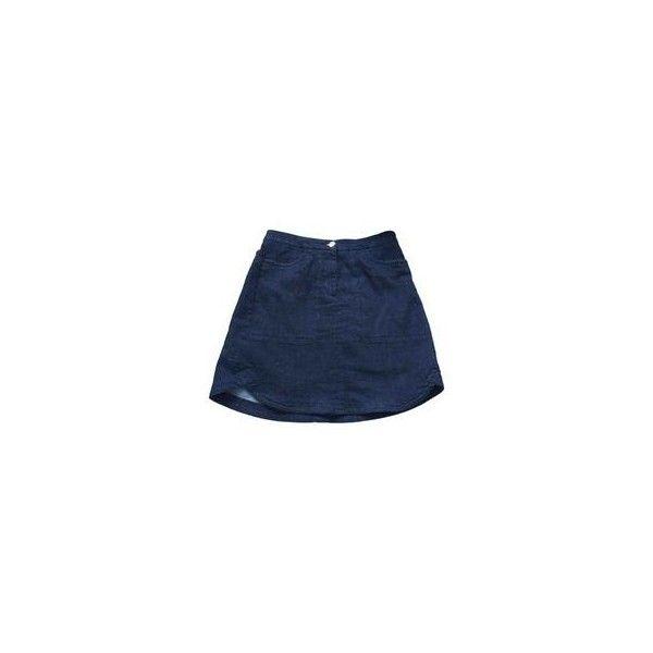 Mid-length skirt BIMBA LOLA ❤ liked on Polyvore featuring skirts, mid length skirts, blue cotton skirt, cotton skirts and blue skirt