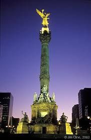 El Angel, Mexico City. At a roundabout on Paseo de la Reforma, one of Mexico City's main thoroughfares, stands a gilded angel erected in 1910 as a monument commemorating the centennial of Mexico's War of Independence. It is famously recognizable and singularly beautiful; El Ángel, as it is commonly called, can be seen in various reinterpretations throughout the metropolis—from taxi cab doors to government advertising.