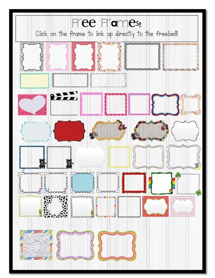 Classroom Freebies Too: The 3AM Teacher Free Frames PDF Linky