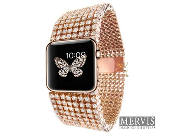 $30K Diamond Studded Apple Watch From Mervis Diamonds Available For Pre-Order
