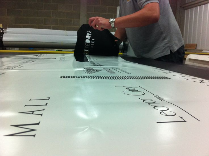This is how we do it baby! Vinyl graphics. www.mustardsolutions.co.uk