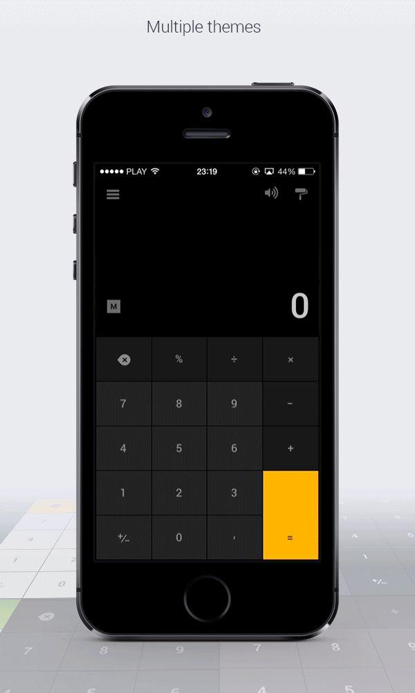 CalcFLO - iOS calculator app by Karol Ortyl, via Behance