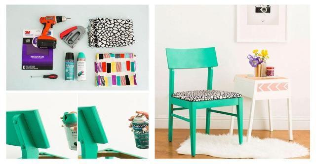 DIY: Odświeżamy stare krzesło, aby pasowało do nowoczesnego wnętrza #KRZESŁO #DIY #ZRÓB TO SAMA #KROK PO KROKU