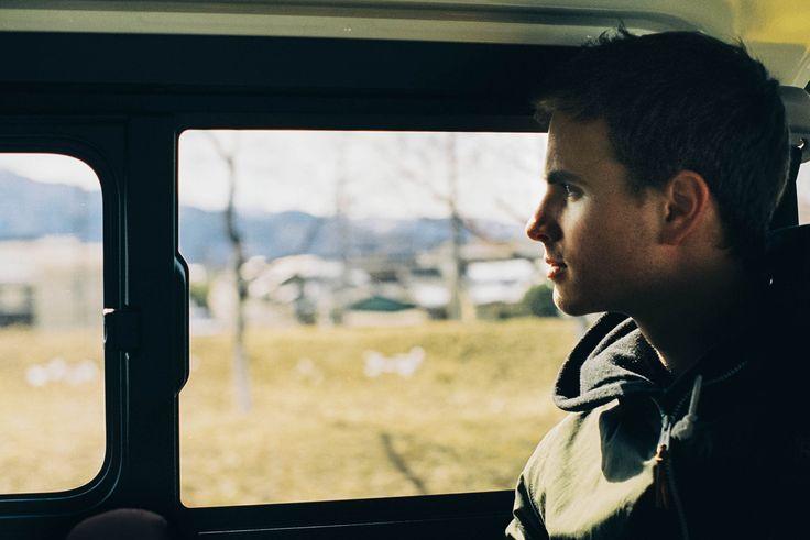 Adrian Bliss — Tim Kellner on the drive to Nagano, Japan.