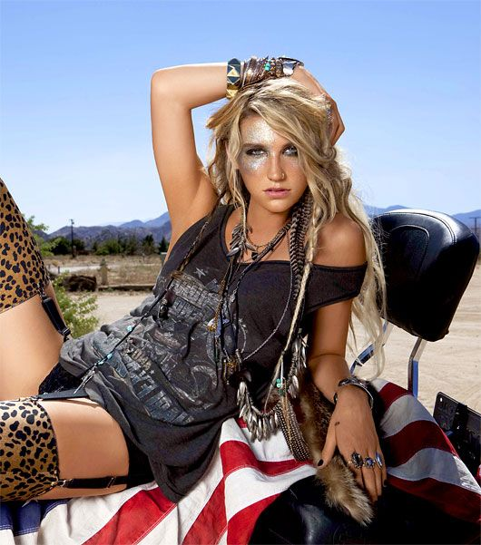 Kesha! I love how she's all about having fun and being herself no matter what.