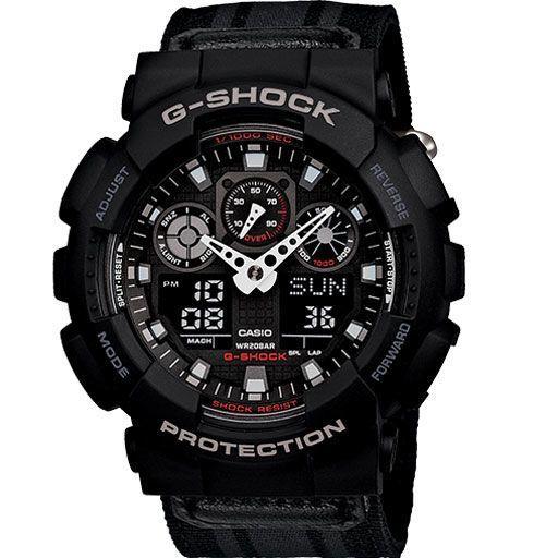 G-Shock Ga-100MC Cloth Band Watch (Black) $108.95
