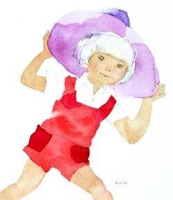 Every girl needs a floppy summer hat!     Artist: Chihiro Iwasaki