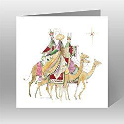Paper House Charity Christmas Cards - Pack Of 6 Cards -Follow Yonder Star - In Aid of the following Charities: Marie Curie Cancer Care, Age UK, MNDA, Tenovus, British Heart Foundation, Self Unlimited