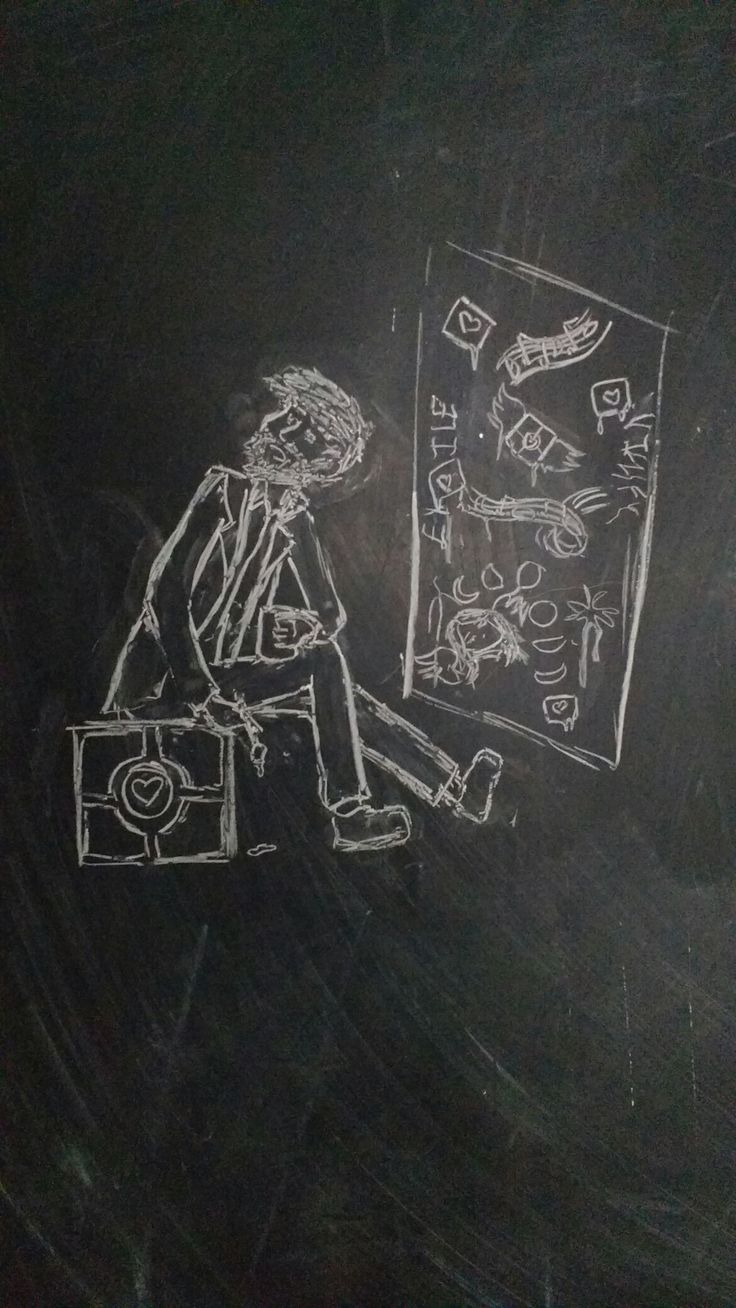 The rare chalkboard sketch: Ratmann from Portal. Just played this game and I love it so much! It's my newest fandom since Samurai Jack.