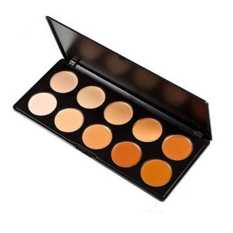 10 Color Professional Concealer Camouflage Makeup Palette  Face Contouring Kit - The Accessory Nook