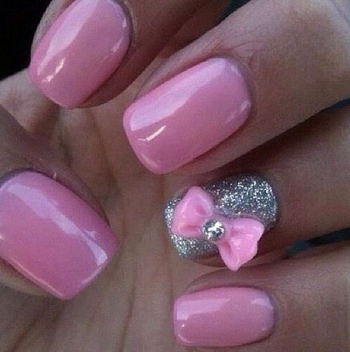 cute pink nail designs for prom : Nail Art Designs | Short | Easy ...