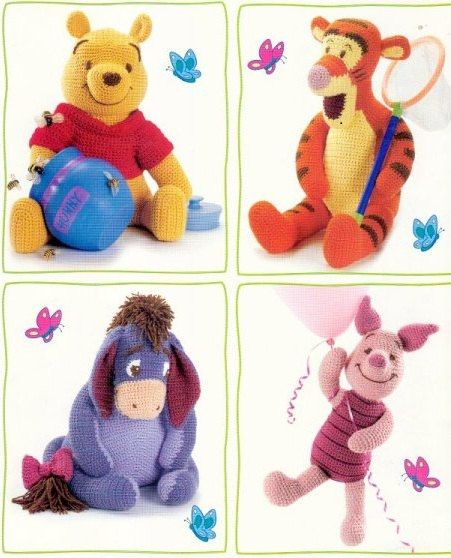 Pooh Bear, Tigger, Eor, and Piglet from Winnie-the-Pooh