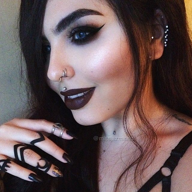 Pinterest: @MagicAndCats ☾ Feeling dark rings from @rogueandwolf lipstick is @lasplashcosmetics 'Spellbound'