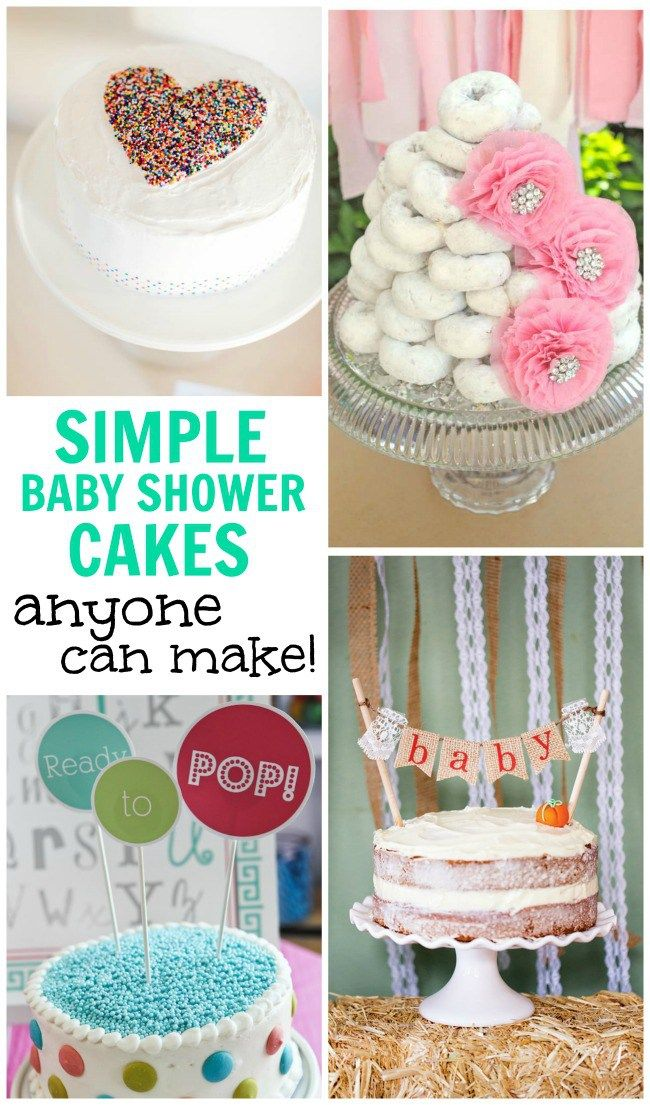 Cake Baby Shower Recipes : Best 25+ Simple baby shower cakes ideas on Pinterest ...