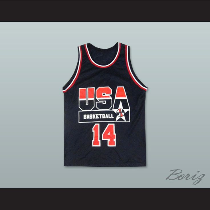 "Alonzo Mourning 14 USA Team Away Basketball Jersey. STITCH SEWN GRAPHICS  CUSTOM BACK NAME CUSTOM BACK NUMBER ALL SIZES AVAILABLE SHIPPING TIME 3-5 WEEKS WITH ONLINE TRACKING NUMBER Be sure to compare your measurements with a jersey that already fits you. Please consider ordering a larger size, if you prefer a loose fit. HOW TO CALCULATE CHEST SIZE: Width of your Chest plus Width of your Back plus 4 to 6 inches to account for space for a loose fit. Example: 18"" wide chest plus 18"" wide back…"