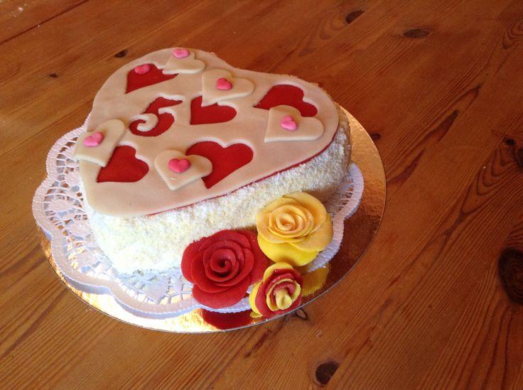 Zum 5er. Jahrestag Torte